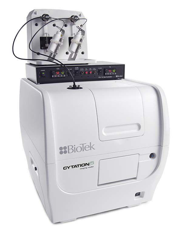 Sistema Captura de Imagem Fluor/CC/He, Leitora Multidetecção ABS UV-Vis, Fluor, FP, Frt, Lumin, Alpha - MODELO CYTATION5-CYT5MFAV