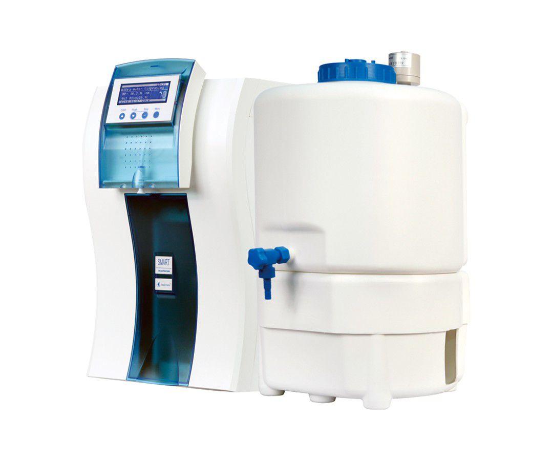 Sistema Ultrapurificação(Tipo I) e Purificação de Água(Tipo II),com ultrafiltração p/ remoção de nucleases e endotoxinas,alimentação direto da torneira,vazão de até 90L/h ? Modelo: DIRECT SMART-Q-UF