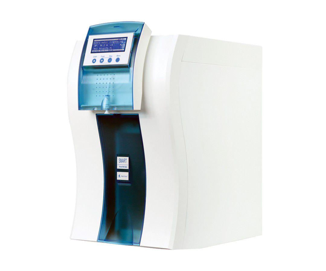 Sistema para ultrapurificação (TIPO I) com microfiltração, alimentação de água de osmose reversa, deionizada ou destilada, vazão 90-120-L/h ? Modelo: UP900