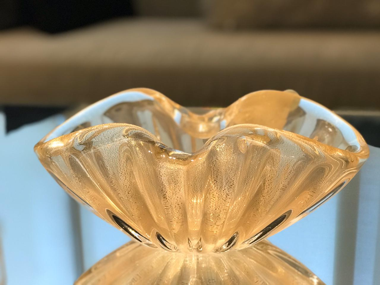 Bowl Bocca - Nude Pastel com Ouro - M