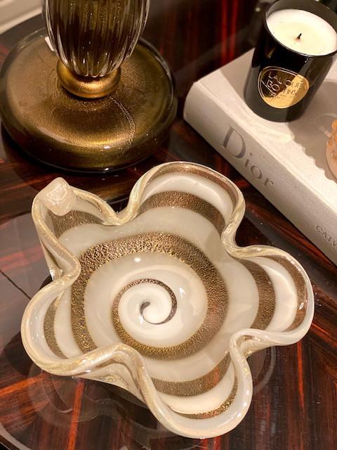 Bowl Orchidea - Transp. com Ouro Fio Branco