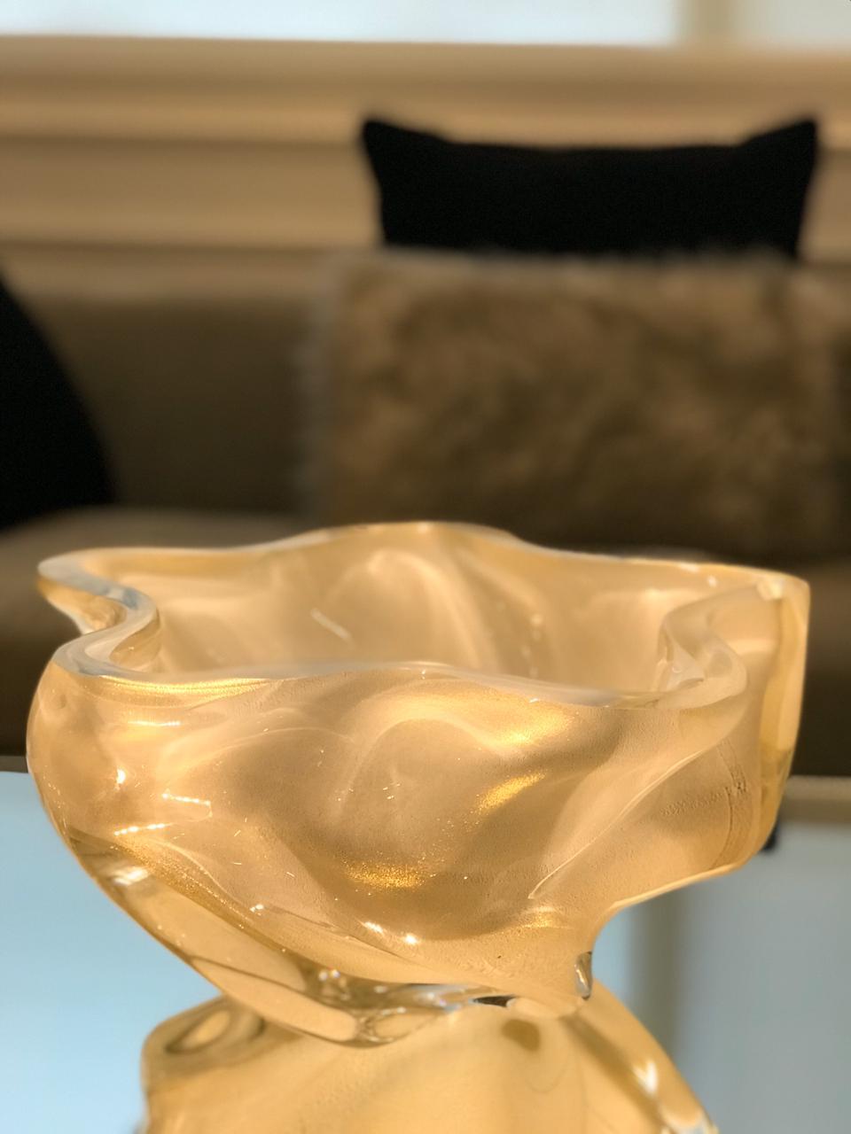 Centro Stella - Branco com Ouro - G