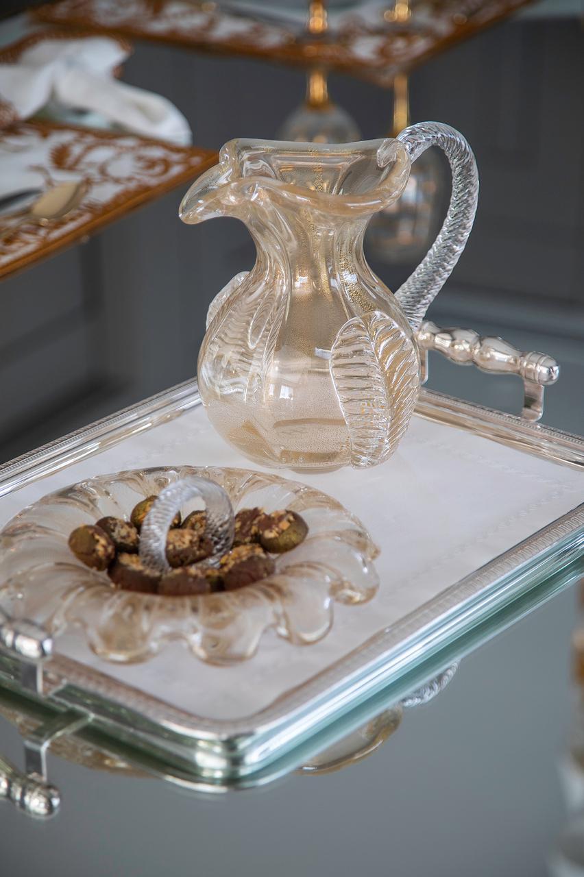 Jarra Foglio - Transparente com Ouro M
