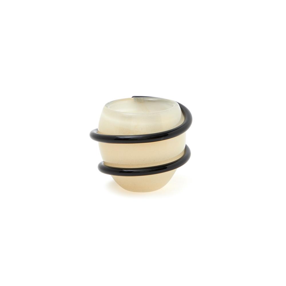 Mini Centro Cordone - Branco com fio Preto