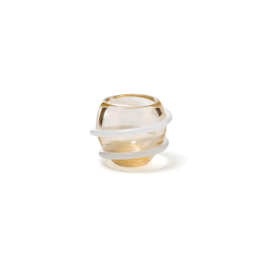 Mini Centro Cordone - Transparente com fio Branco