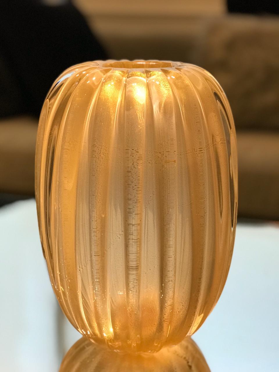Vaso Melone - Nude Pastel com Ouro M