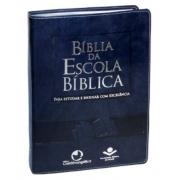 Bíblia da Escola Bíblica com índice - Capa Azul nobre