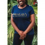 Camiseta Família Meu maior patrimônio feminina - azul