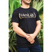 Camiseta - Família Meu Patrimônio Preta e Dourada