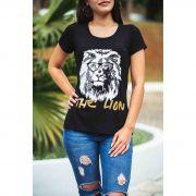 Camiseta The Lion Feminina - preta