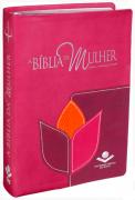 Livro Bíblia de Estudo da Mulher Leitura Devocional RC - Luxo Flor Grande