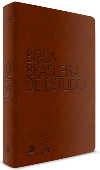 Bíblia Brasileira de Estudo - Marrom  - Loja Amo Família