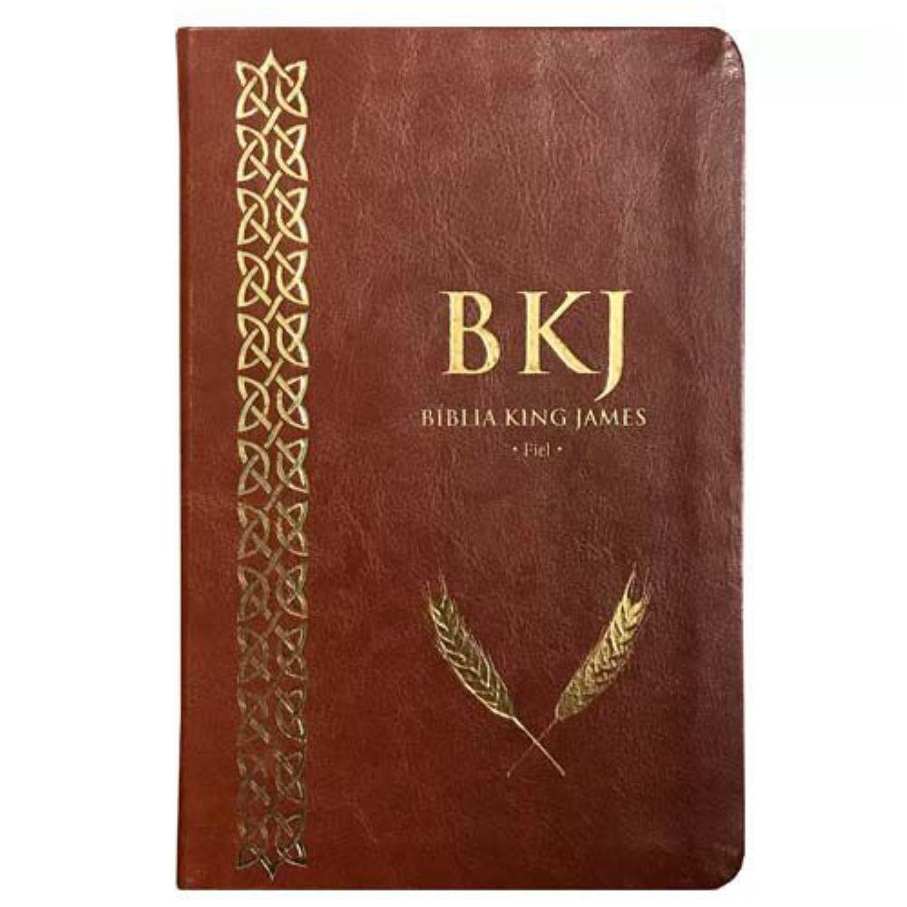 BIBLIA KING JAMES FIEL 1611 - MARROM  - Loja Amo Família