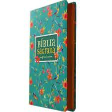 BIBLIA LEITURA PERFEITA - CAPA FLORES (LETRA GRANDE)  - Loja Amo Família