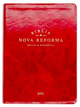 Bíblia Nova Reforma - NVI - Luxo Vermelha  - Loja Amo Família