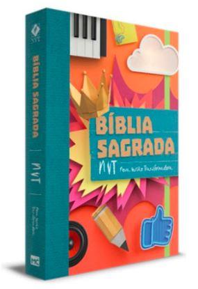 BÍBLIA - NVT COLAGEM LETRA NORMAL  - Loja Amo Família