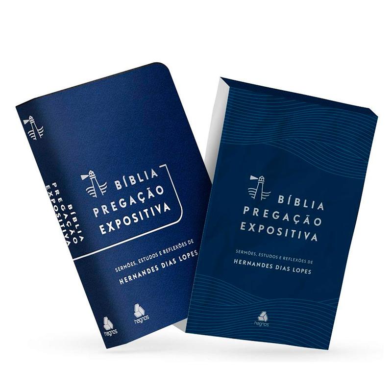 BÍBLIA PREGAÇÃO EXPOSITIVA - AZUL - HERNANDES