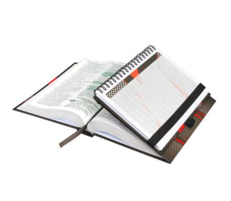 Bíblia Sagrada Fonte de Bênçãos + Caderno Para Anotações  - Loja Amo Família