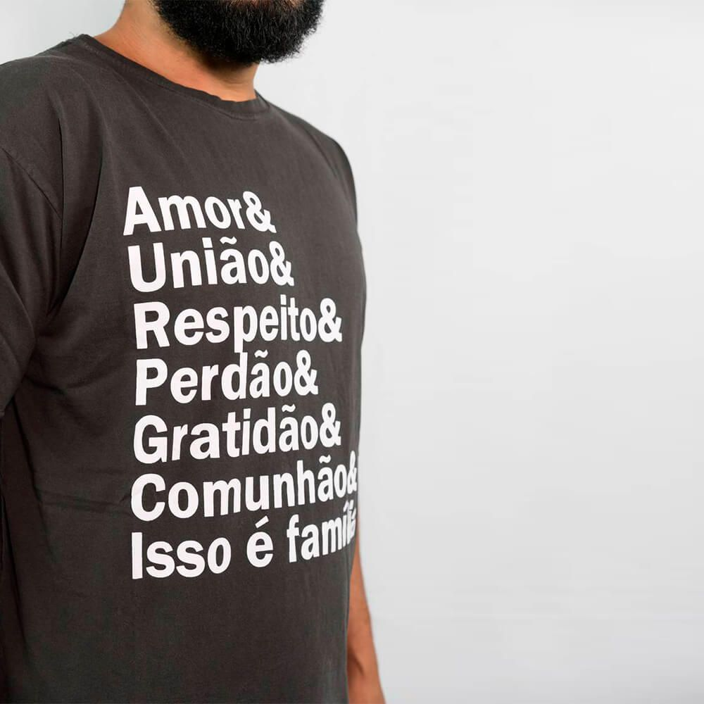 CAMISETA- ESSÊNCIA DA FAMILIA  - Loja Amo Família