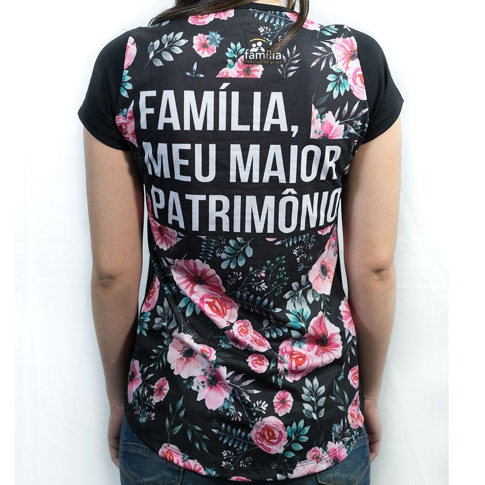CAMISETA FLORAL FEMININA  - Loja Amo Família