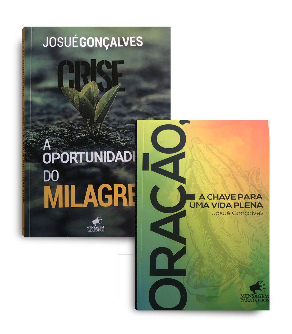 COMBO DE LIVROS- CRISE- A OPORTUNIDADE DO MILAGRE + ORAÇÃO A CHAVE PARA UMA VIDA PLENA