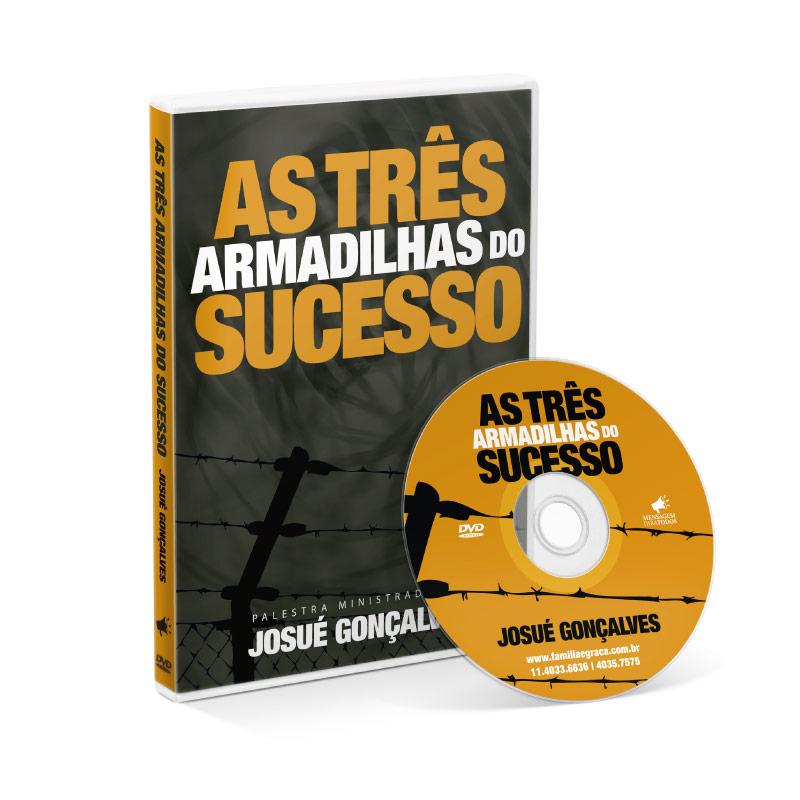 DVD - As três armadilhas do sucesso  - Loja Amo Família