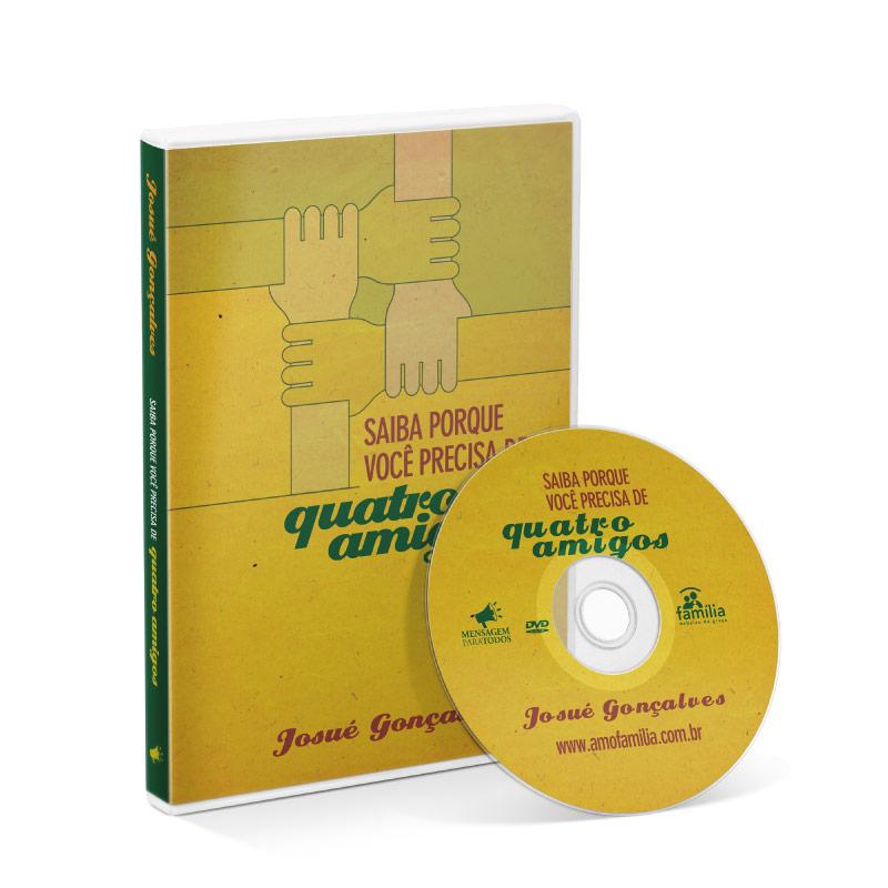 DVD - Saiba porque você precisa de 4 amigos  - Loja Amo Família