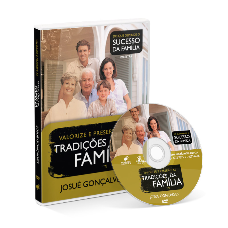 DVD - Valorize e preserve as tradições da Família  - Loja Amo Família