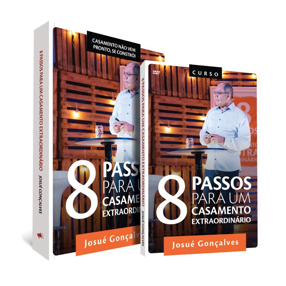Kit - 8 Passos para um Casamento Extraordinário - Box DVDs + Livro