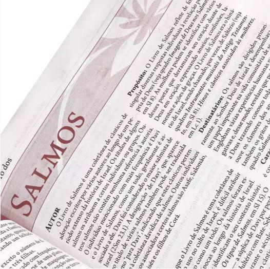 Livro Bíblia de Estudo da Mulher Leitura Devocional RC - Luxo Flor Grande  - Loja Amo Família
