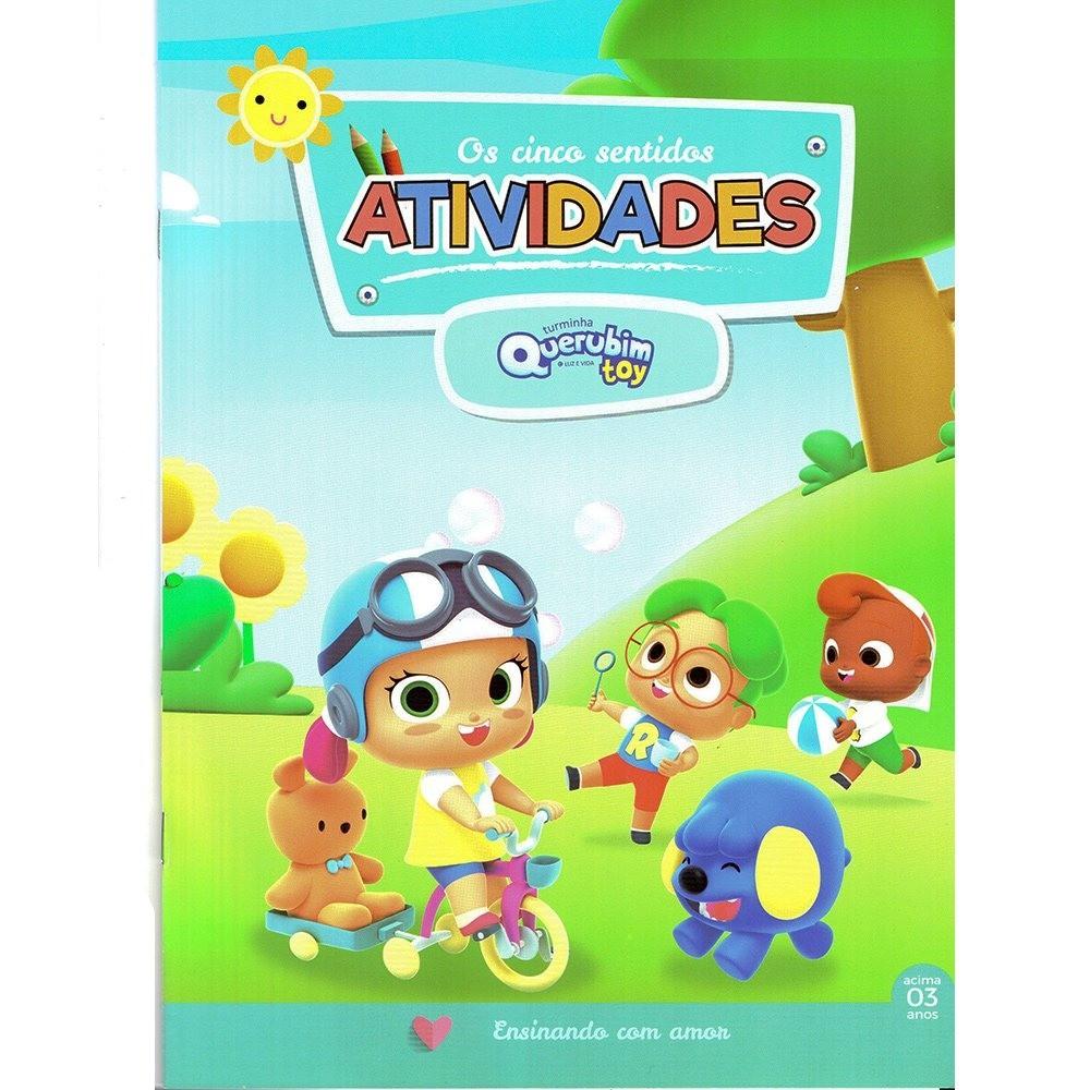 LIVRO DE ATIVIDADES QUER.- CINCO SENTIDOS - 9692  - Loja Amo Família