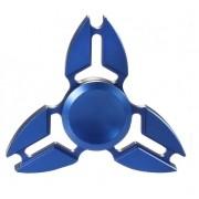 Hand Spinner de Metal Azul - Rolamento Anti Estresse Fidget Hand Spinner