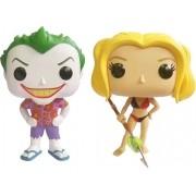 Pop Coringa e Harley Quinn Roupa de Praia (The Joker & Harley Quinn): DC Super Heroes Exclusivo #2 - Funko