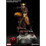 Estátua Wolverine Brown Costume Premium Format Escala 1/4 - Sideshow - CD