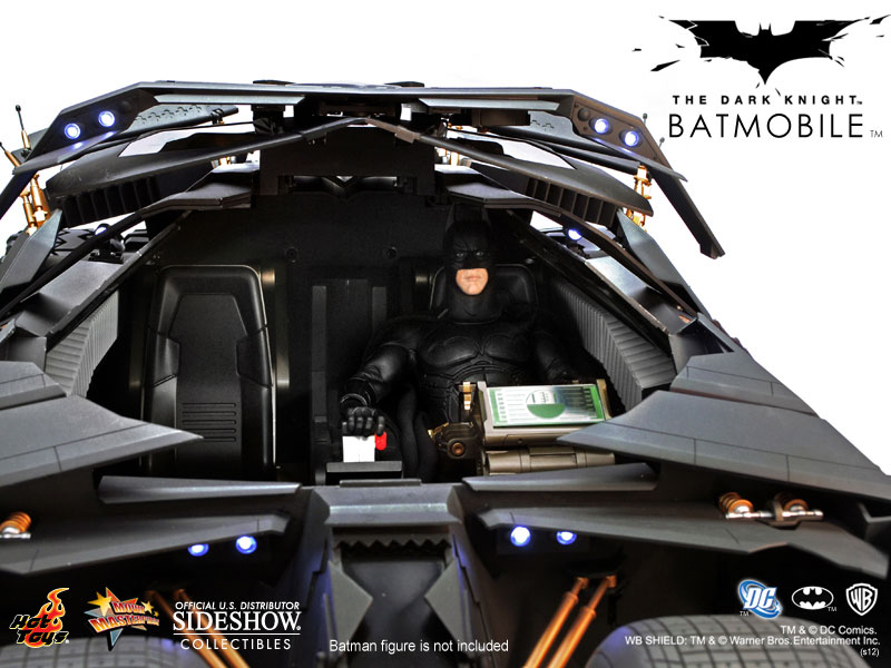 Batmobile (Batmóvel): Batman The Dark Knight Tumbler Escala 1/6 - Hot Toys
