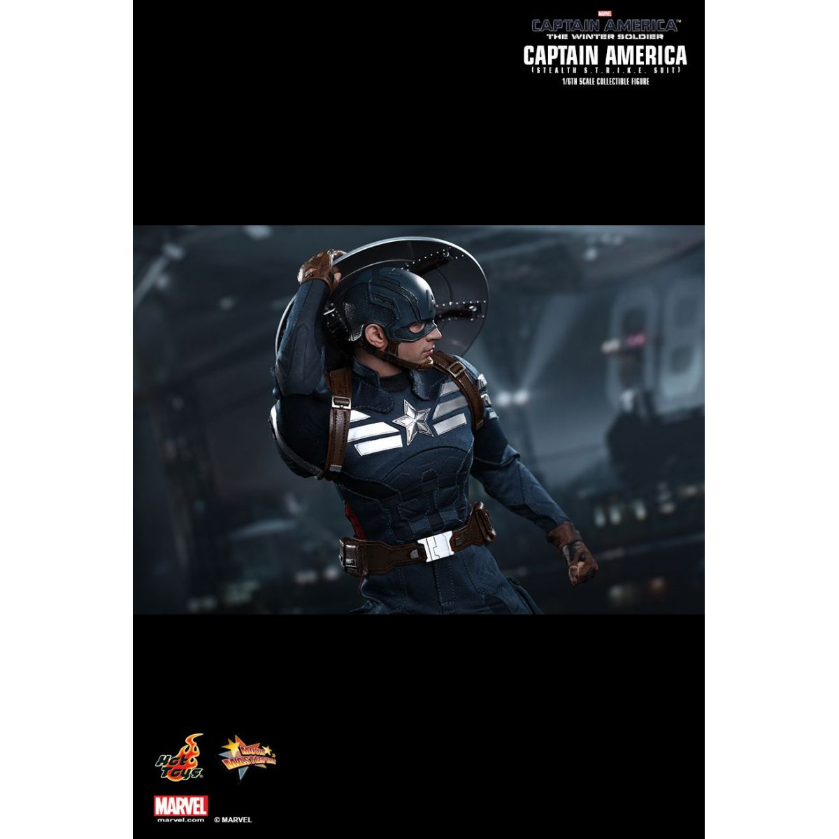 Boneco Capitão América (Stealth STRIKE Suit): Capitão América 2: O Soldado Invernal (The Winter Soldier) Escala 1/6 - Hot Toys - CD