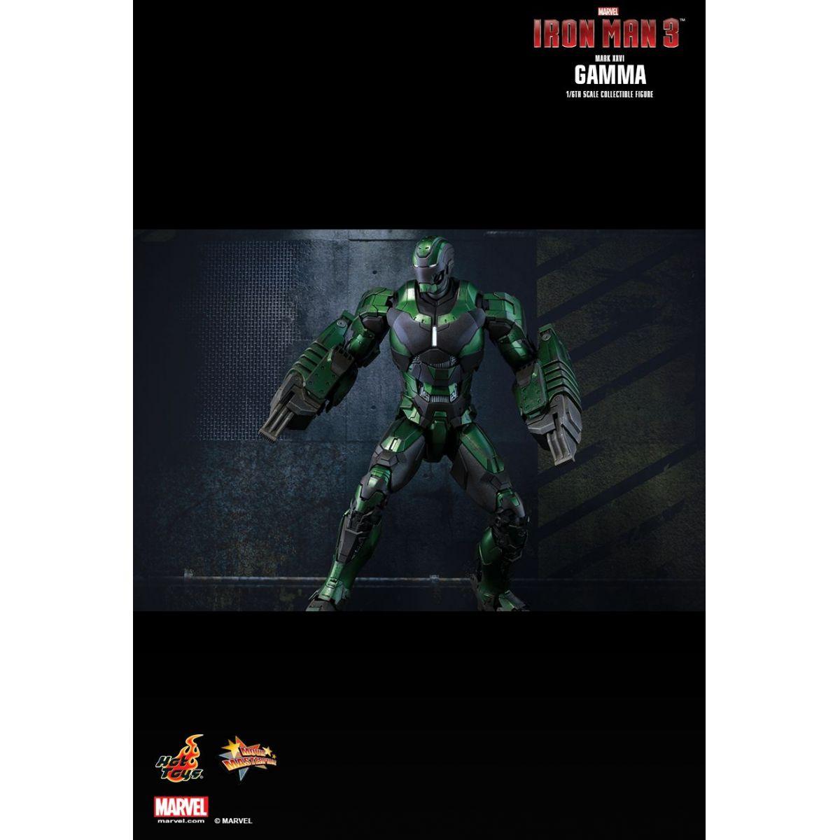 Boneco Iron Man Mark XXVI Gamma: Homem de Ferro 3 (Iron Man 3) Exclusive Escala 1/6 - Hot Toys - CD