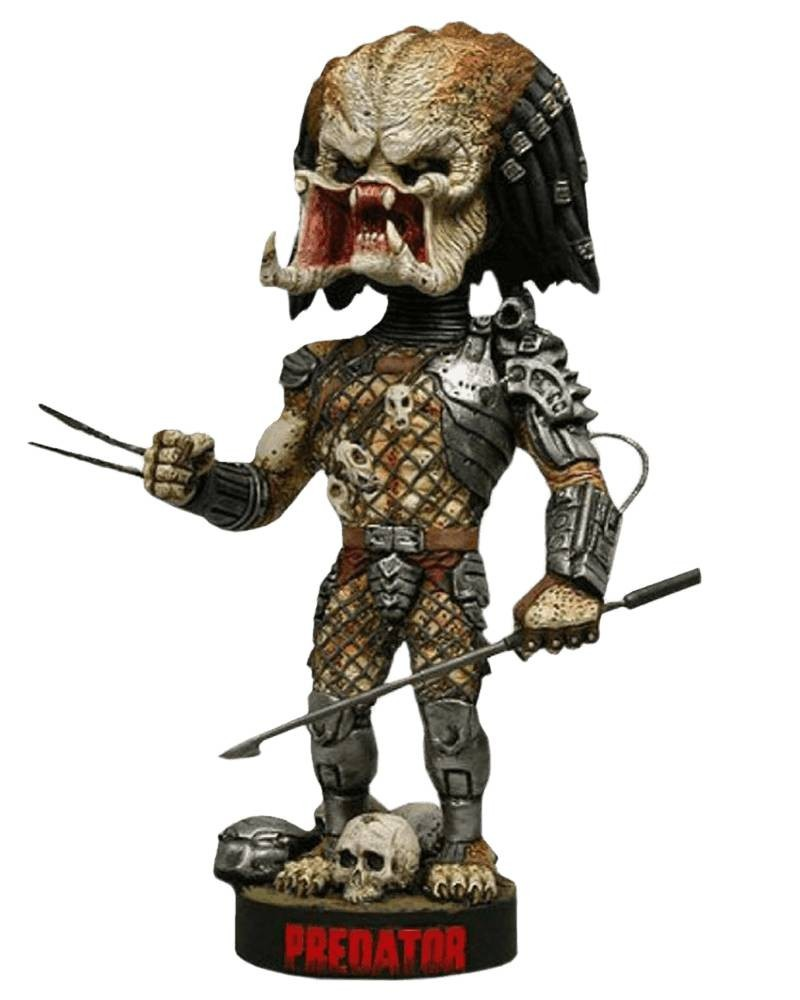 Boneco Jungle Hunter Predador / Predator com lança: Extreme Bobble Head (Head Knocker) - Neca - CD