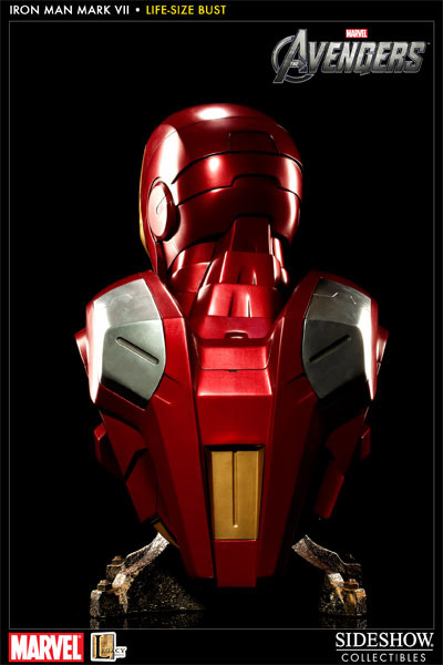 Busto Avengers: Iron Man Mark VII Escala 1/1 - Sideshow