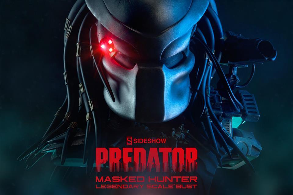 Busto Predador (com Máscara) Masked Hunter Legendary Escala 1/2 - Sideshow - CD
