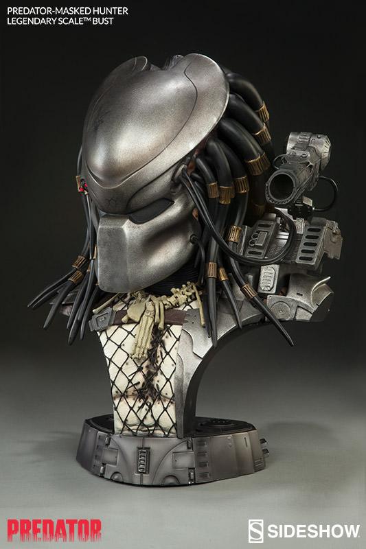 Busto Predador / Predator (com Máscara) Masked Hunter Legendary Escala 1/2 - Sideshow - CD