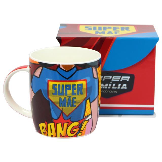 Caneca Super Mãe - Zona Criativa  - Toyshow Colecionáveis