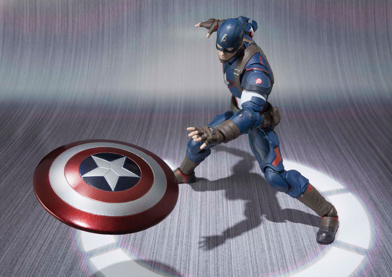 Capitão América Age Of Ultron S.H. Figuarts - Bandai  - Toyshow Colecionáveis