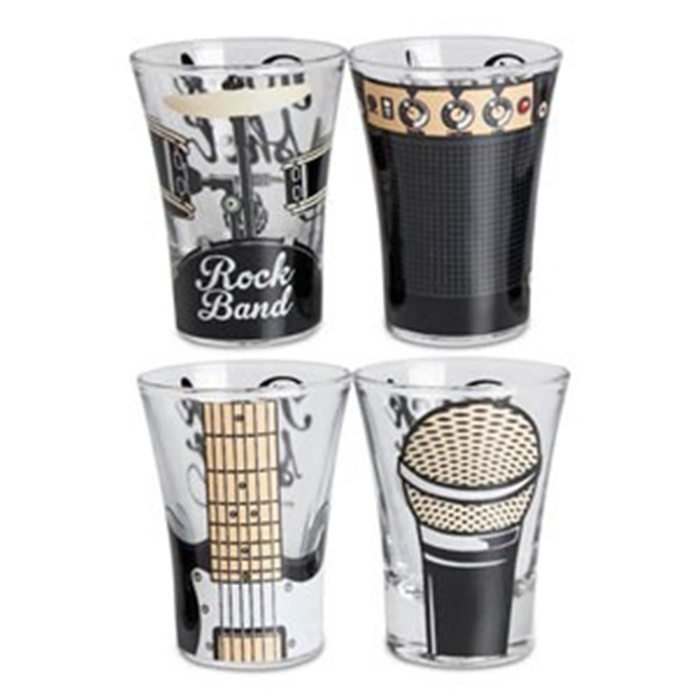 Copo Shot Rock Band 4 Peças  - Toyshow Colecionáveis