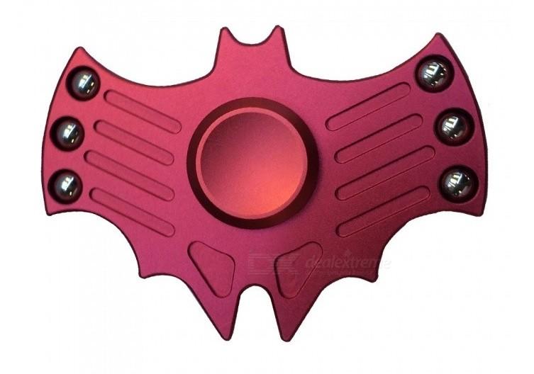 Hand Spinner Morcego com bolinha Vermelho - Rolamento Anti Estresse Fidget Hand Spinner