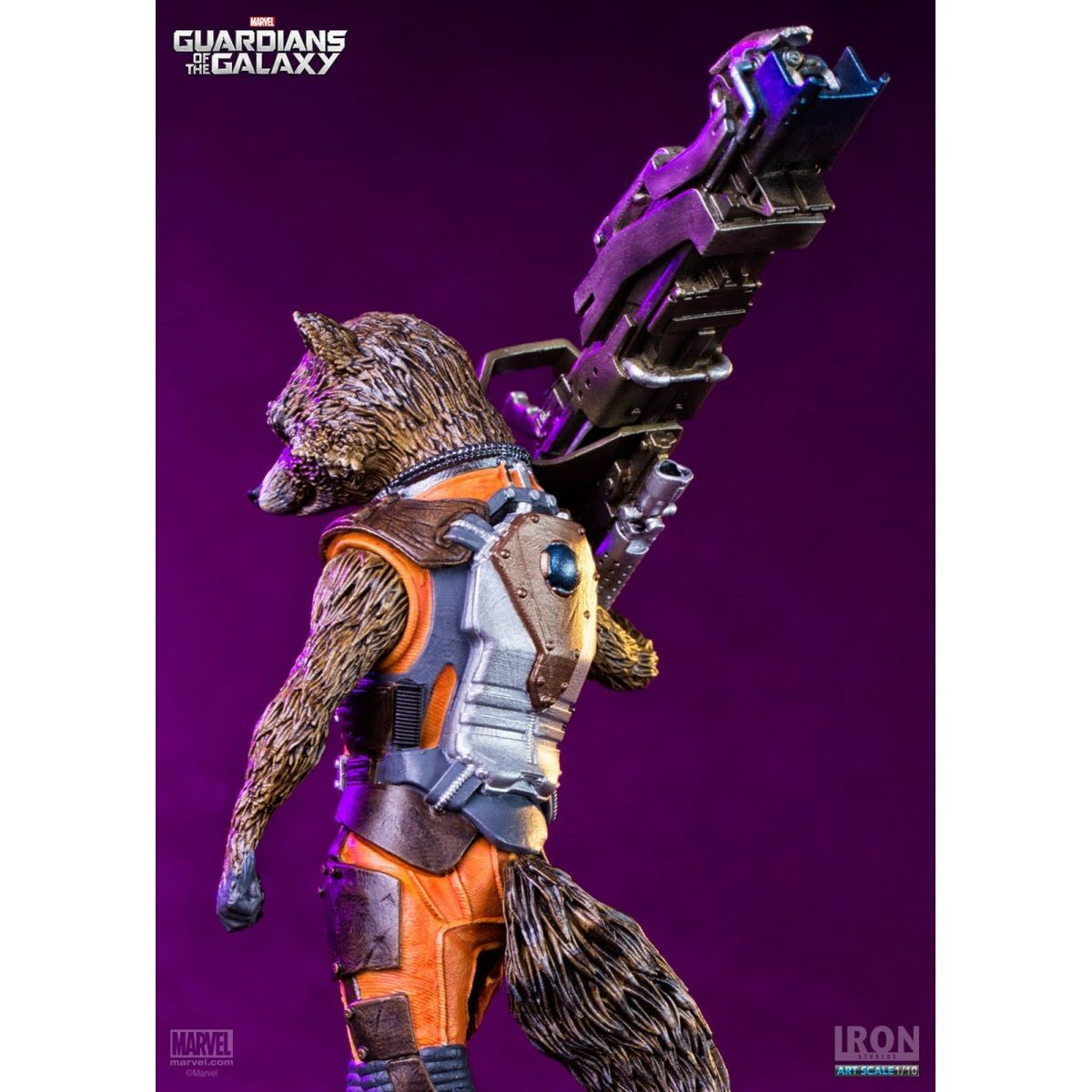 Estátua Rocket Raccoon: Guardiões da Galáxia Escala 1/10 - Iron Studios - CD