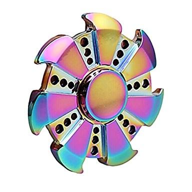 Hand Spinner Circular Metal Colorido 7 pontos - Rolamento Anti Estresse Fidget Hand Spinner