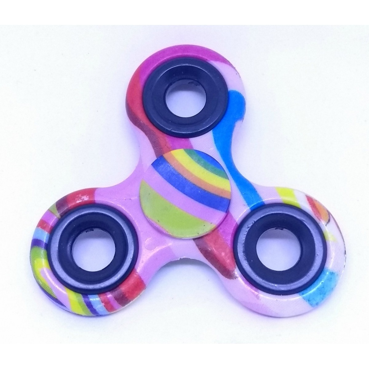 Hand Spinner Coloridos - Rolamento Anti Estresse Fidget Hand Spinner