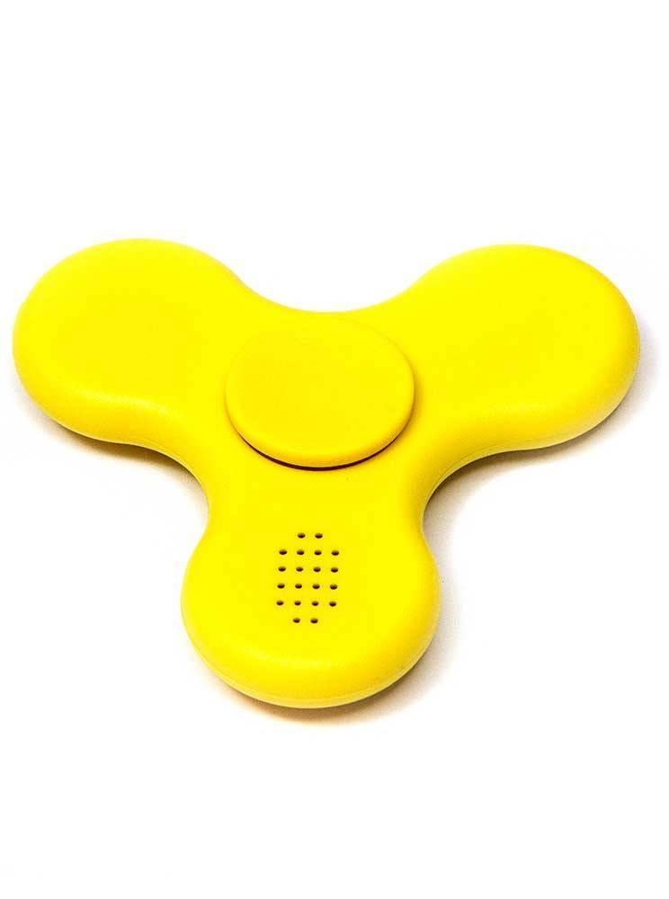 Hand Spinner com Bluetooth Amarelo - Rolamento Anti Estresse Fidget Hand Spinner