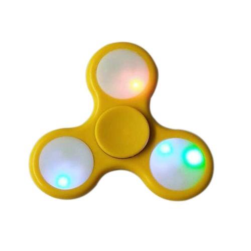 Hand Spinner com LED Amarelo - Rolamento Anti Estresse Fidget Hand Spinner